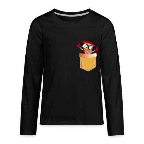 Pizza Lover pocket - Kids' Premium Long Sleeve T-Shirt