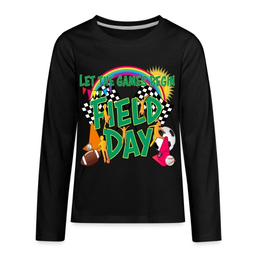 Field Day Games for SCHOOL - Kids' Premium Long Sleeve T-Shirt