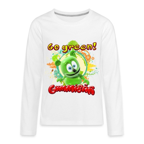 Gummibär Go Green Earth Day Trees - Kids' Premium Long Sleeve T-Shirt