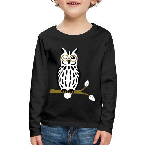 Winky Owl - Kids' Premium Long Sleeve T-Shirt