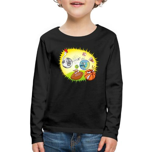 Soccer showing red card to other sports - Kids' Premium Long Sleeve T-Shirt