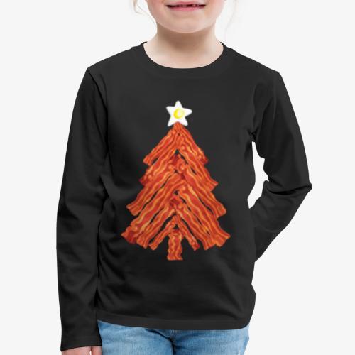 Funny Bacon and Egg Christmas Tree - Kids' Premium Long Sleeve T-Shirt