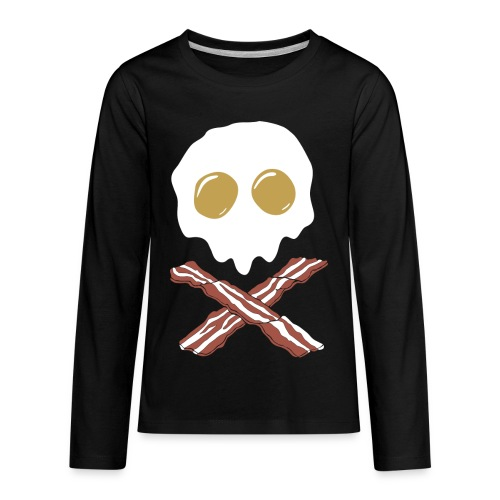 Breakfast Skull - Kids' Premium Long Sleeve T-Shirt