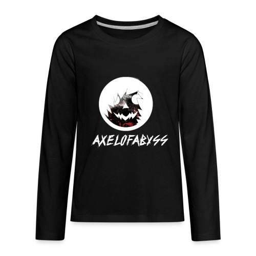 Axelofabyss Red with Nature - Kids' Premium Long Sleeve T-Shirt