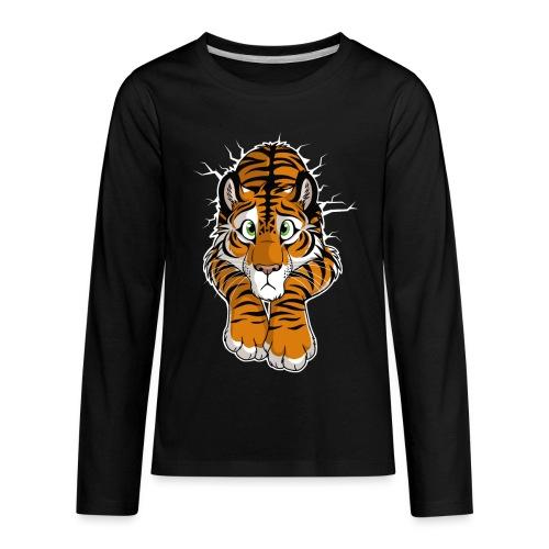 STUCK Tiger Orange (double-sided) - Kids' Premium Long Sleeve T-Shirt