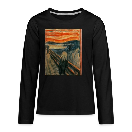 The Scream (Edvard Munch) - Kids' Premium Long Sleeve T-Shirt