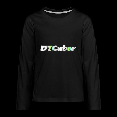 DTCuber Logo - Kids' Premium Long Sleeve T-Shirt