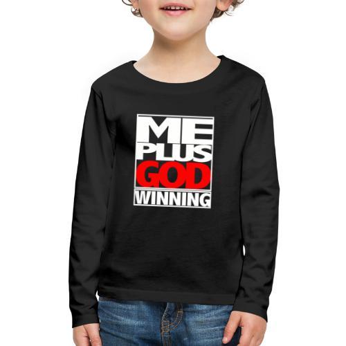 ME GOD WIN WHT - Kids' Premium Long Sleeve T-Shirt
