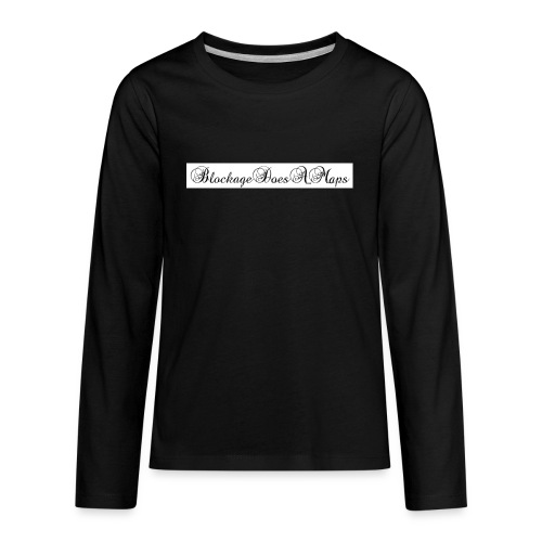 Fancy BlockageDoesAMaps - Kids' Premium Long Sleeve T-Shirt