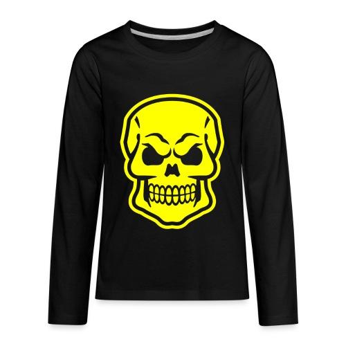 Skull vector yellow - Kids' Premium Long Sleeve T-Shirt