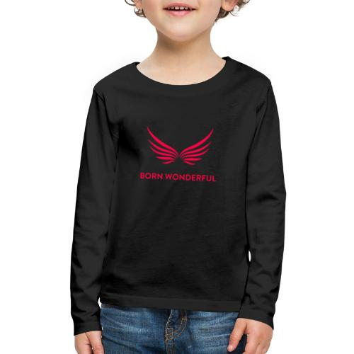 Red Born Wonderful Logo - Kids' Premium Long Sleeve T-Shirt