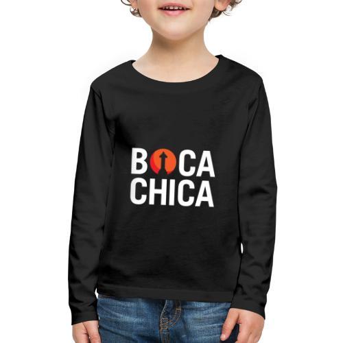 Boca Chica Starship Mars Silhouette - Kids' Premium Long Sleeve T-Shirt