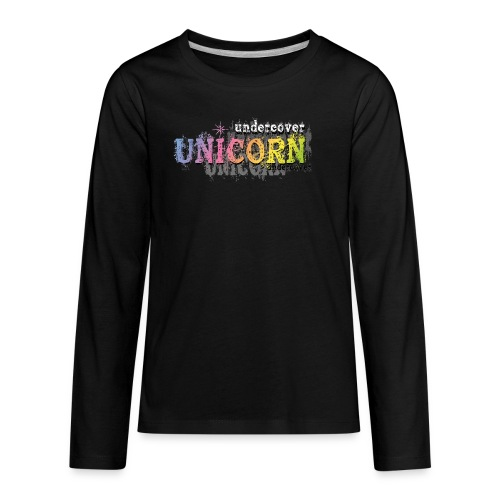 Undercover Unicorn - Kids' Premium Long Sleeve T-Shirt