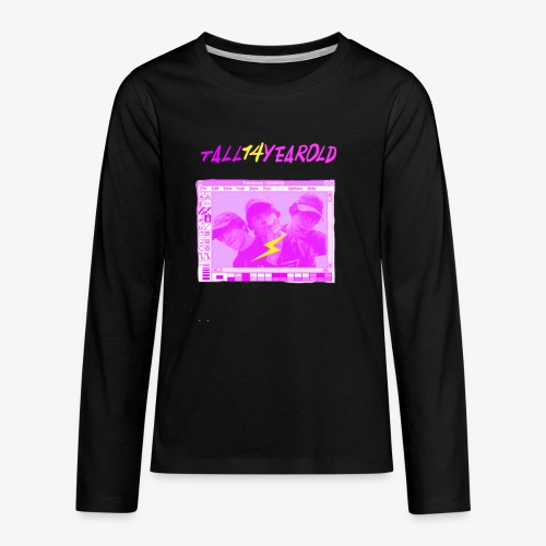 KIDS EXCLUSIVE!!! Tall14yearold Twitter Shirt - Kids' Premium Long Sleeve T-Shirt