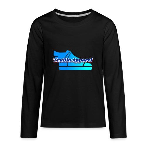 TruBlu Apparel Logo - Kids' Premium Long Sleeve T-Shirt
