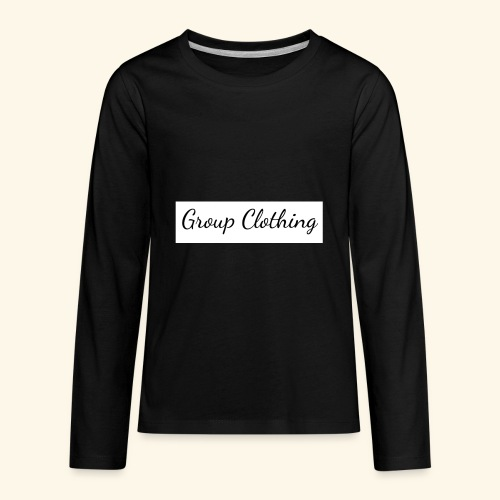 Cursive Black and White Hoodie - Kids' Premium Long Sleeve T-Shirt
