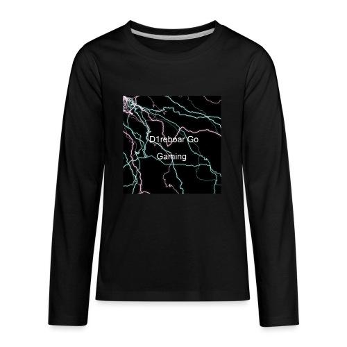 D1reboar Go YouTube Sticker - Kids' Premium Long Sleeve T-Shirt