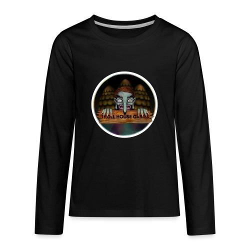 Troll House Games Logo - Kids' Premium Long Sleeve T-Shirt