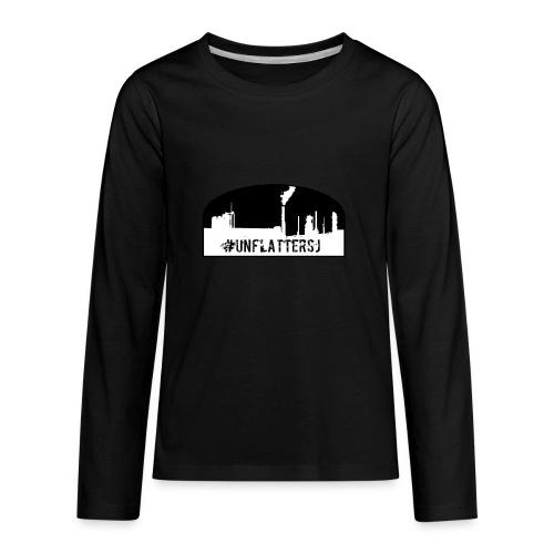 Unflatter Hashtag logo - Kids' Premium Long Sleeve T-Shirt