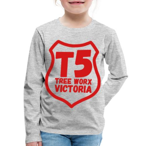 T5 tree worx shield - Kids' Premium Long Sleeve T-Shirt