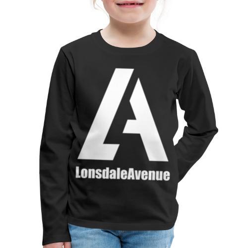 Lonsdale Avenue Logo White Text - Kids' Premium Long Sleeve T-Shirt