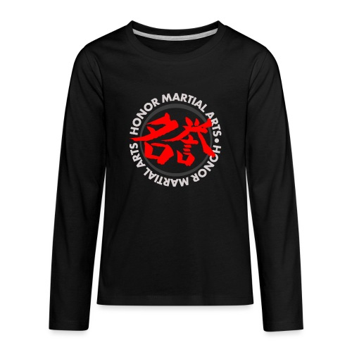 Honor Martial Arts Kanji Design Light Shirts - Kids' Premium Long Sleeve T-Shirt