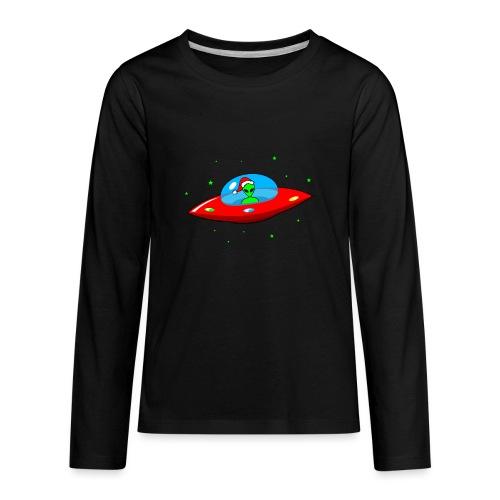 UFO Alien Santa Claus - Kids' Premium Long Sleeve T-Shirt