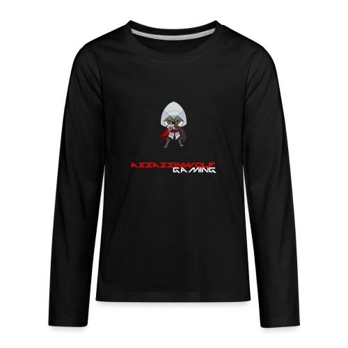 heather gray assassinwolf Tee - Kids' Premium Long Sleeve T-Shirt