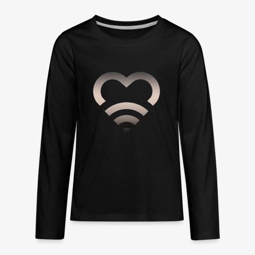 I Heart Wifi IPhone Case - Kids' Premium Long Sleeve T-Shirt