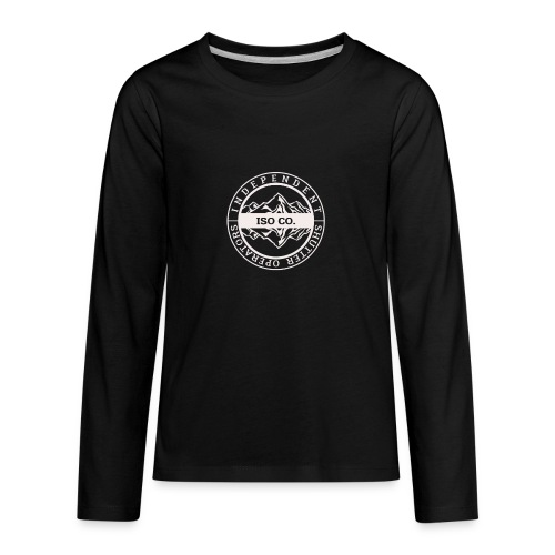 ISO Co. White Classic Emblem - Kids' Premium Long Sleeve T-Shirt