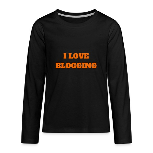 iloveblogging - Kids' Premium Long Sleeve T-Shirt