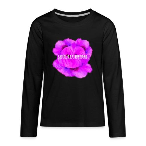 lets_get_purple_2 - Kids' Premium Long Sleeve T-Shirt
