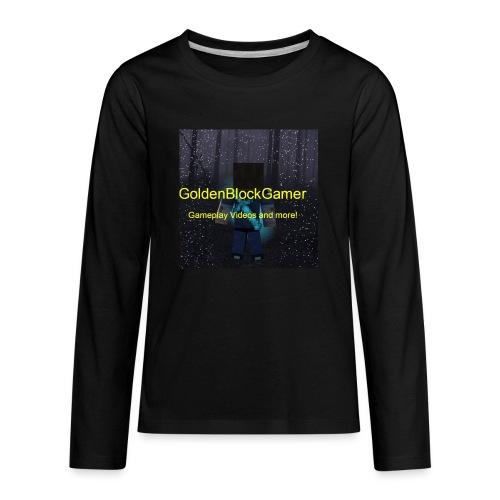 GoldenBlockGamer Tshirt - Kids' Premium Long Sleeve T-Shirt