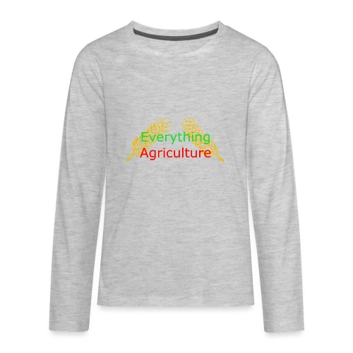 Everything Agriculture LOGO - Kids' Premium Long Sleeve T-Shirt