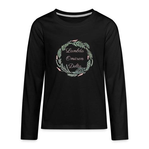 LOD Flower Wreath 1 - Kids' Premium Long Sleeve T-Shirt
