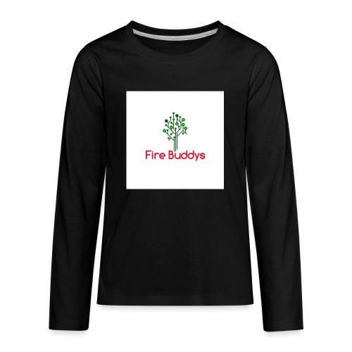 Fire Buddys Website Logo White Tee-shirt eco - Kids' Premium Long Sleeve T-Shirt
