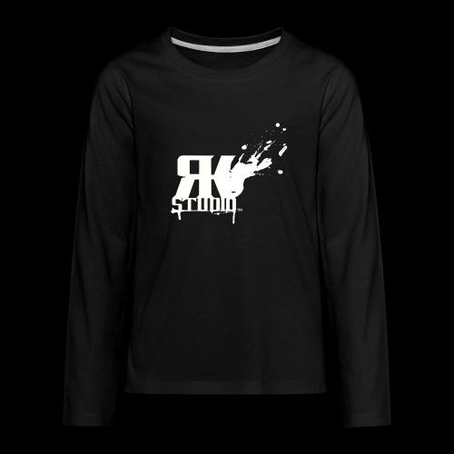 RKStudio White Logo Version - Kids' Premium Long Sleeve T-Shirt
