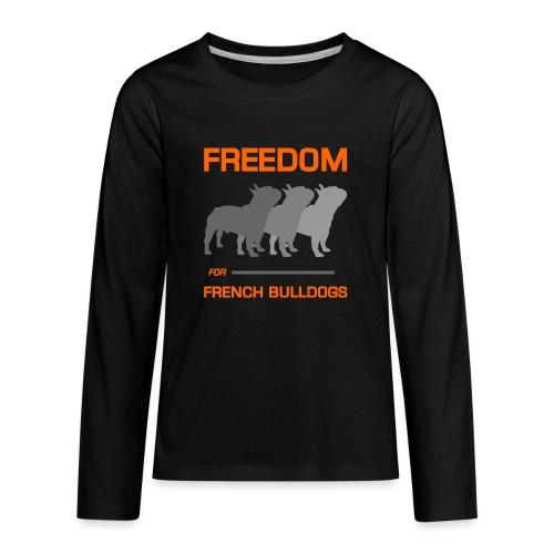 French Bulldogs - Kids' Premium Long Sleeve T-Shirt