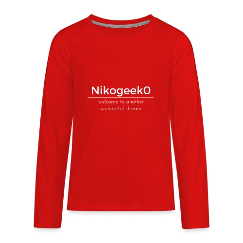 Another Wonderful Stream - Kids' Premium Long Sleeve T-Shirt
