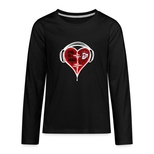 Axelofabyss Music in your heart - Kids' Premium Long Sleeve T-Shirt