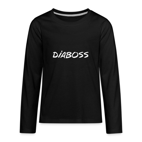 DiaBoss (White) - Kids' Premium Long Sleeve T-Shirt