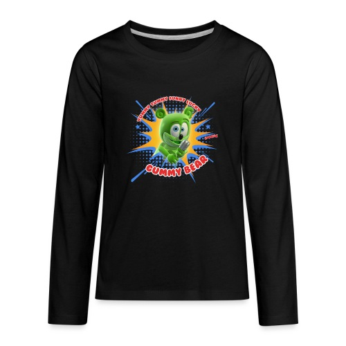 Funny Lucky Gummy Bear - Kids' Premium Long Sleeve T-Shirt