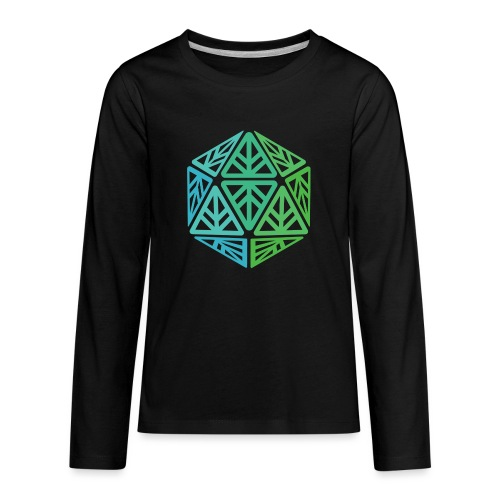 Green Leaf Geek Iconic Logo - Kids' Premium Long Sleeve T-Shirt