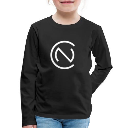 TNC Logo White - Kids' Premium Long Sleeve T-Shirt