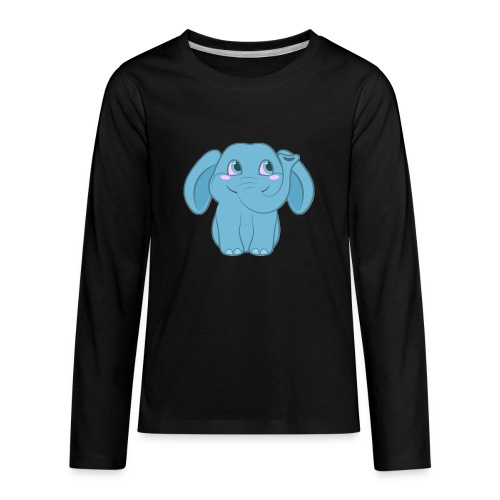 Baby Elephant Happy and Smiling - Kids' Premium Long Sleeve T-Shirt