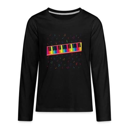Colorful Piano - Kids' Premium Long Sleeve T-Shirt