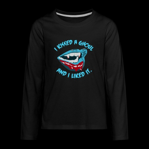 I Kissed a Ghoul - Kids' Premium Long Sleeve T-Shirt