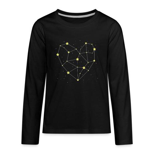 Heart in the Stars - Kids' Premium Long Sleeve T-Shirt