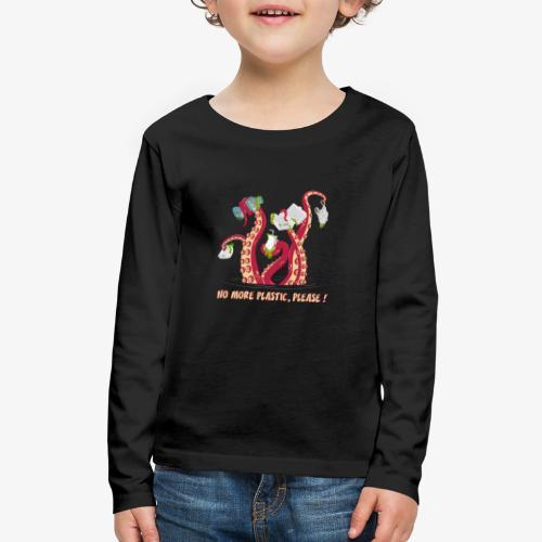 Octopus No More plastic - Kids' Premium Long Sleeve T-Shirt