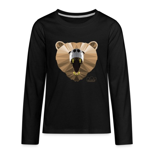 Hungry Bear Women's V-Neck T-Shirt - Kids' Premium Long Sleeve T-Shirt